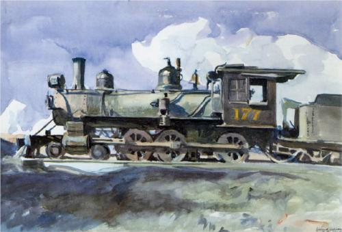 D. & R. G. Locomotive - Edward Hopper