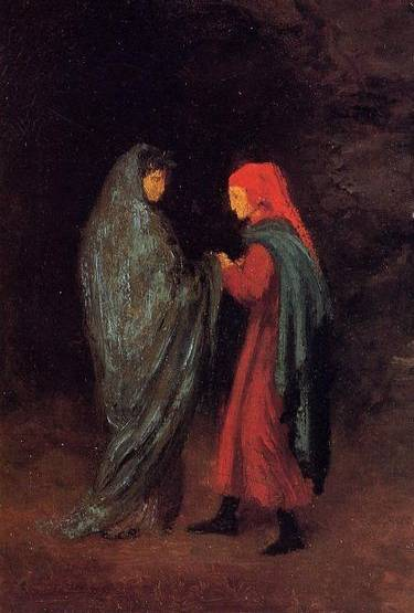 Dante and Virgil at the Entrance to Hell - Edgar Degas