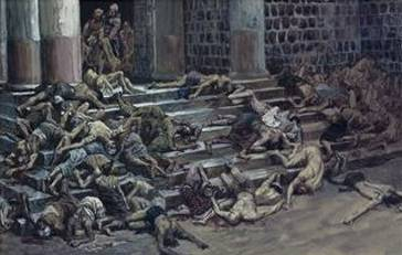 Dead Bodies Thrown Outside the Temple - James Tissot