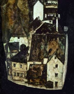 Dead City III (City on the Blue River) - Egon Schiele