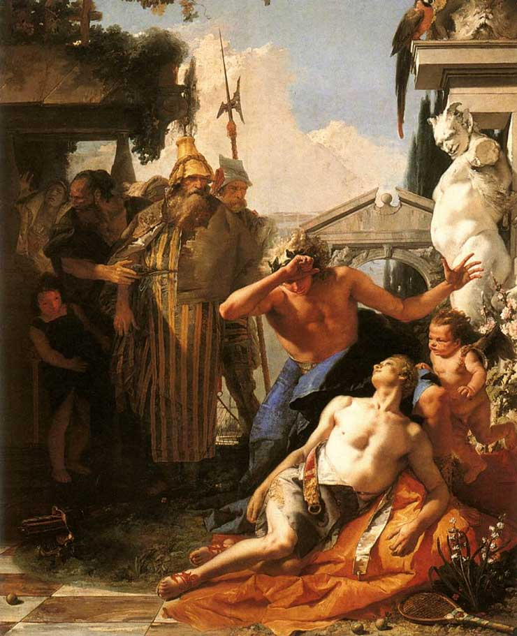 Death of Hyacinth - Giovanni Tiepolo