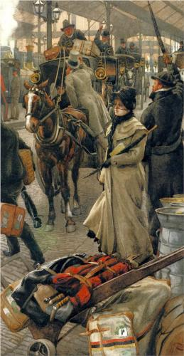 Departure Platform, Victoria Station - James Tissot