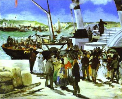 Departure of the Folkestone Boat - Edouard Manet