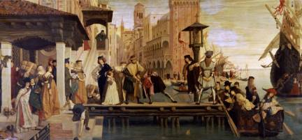Departure of the Prodigal Child from Venice, 1863 - James Tissot