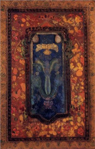 Design for a Prayer Rug - Odilon Redon