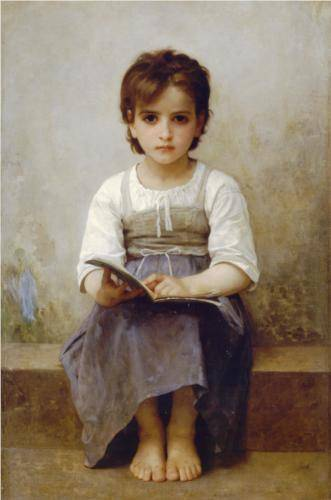 Difficult Lesson - William Adolphe Bouguereau