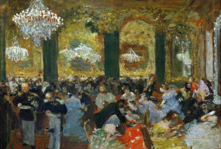 Dinner at the Ball - Edgar Degas
