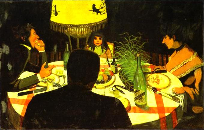Dinner by Lamplight - Felix Vallotton