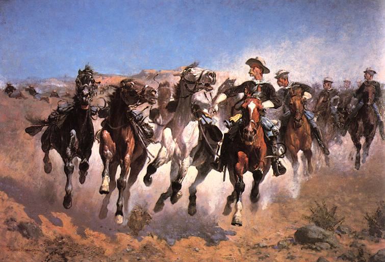 Dismounted Fourth Troopers - Frederic Remington