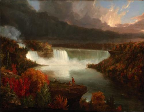 Distant View of Niagara Falls - Thomas Cole