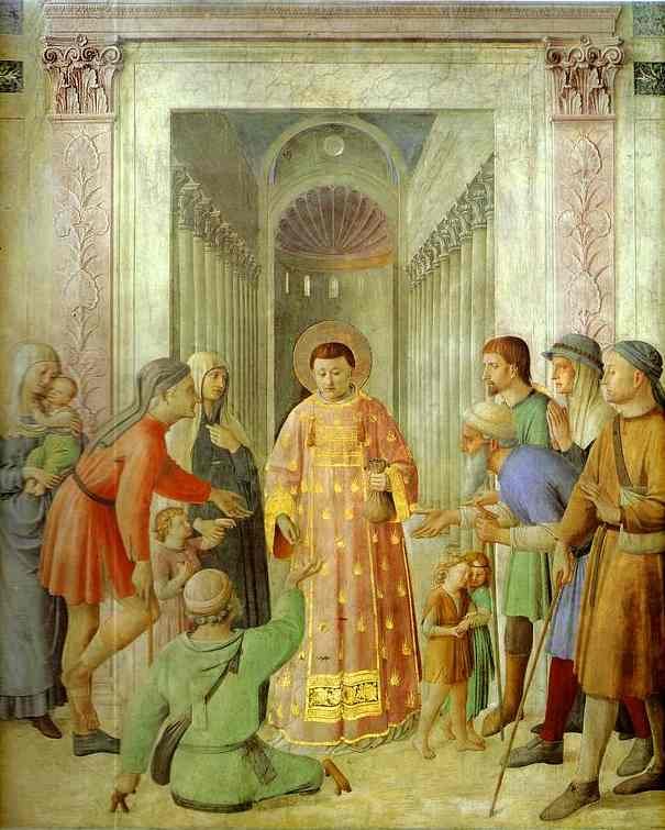 Distributing of Alms - Fra Angelico