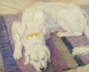 Dog Lying Down - Franz Marc