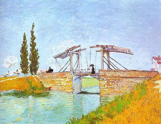The Draw Bridge (Langlois Bridge at Arles) - Vincent van Gogh
