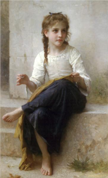 The Dressmaker - William Adolphe Bouguereau