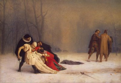 Duel After a Masquerade Ball - Jean Leon Gerome
