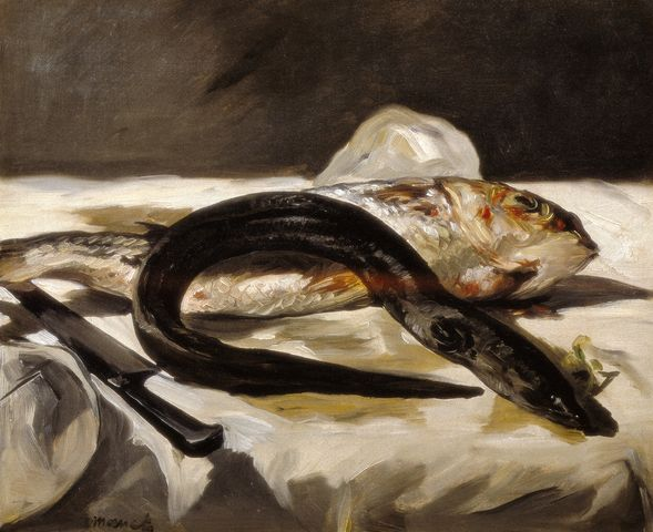 Eel and Red Muller - Edouard Manet