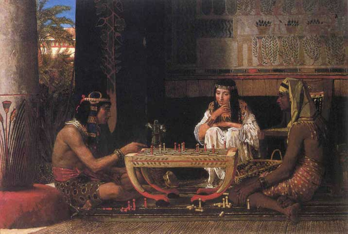 Egyptian Chess Players - Lawrence Alma Tadema