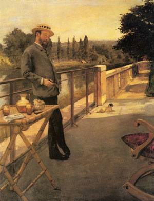 An Elegant Man On A Terrace - Henri Gervex