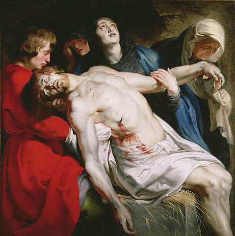 Entombment (detail) - Peter Paul Rubens
