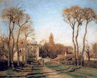 Entrance to Voisins - Camille Pissarro