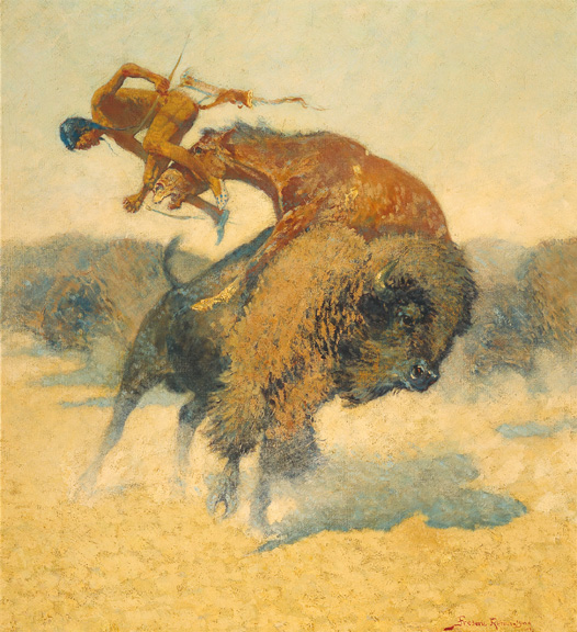 Episode of the Buffalo Hunt - Frederic Remington