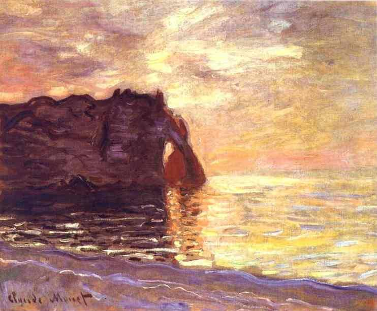 Etretat End of the Day - Claude Monet