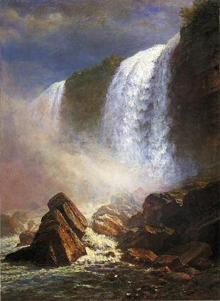 Falls of Niagara from Below - Albert Bierstadt
