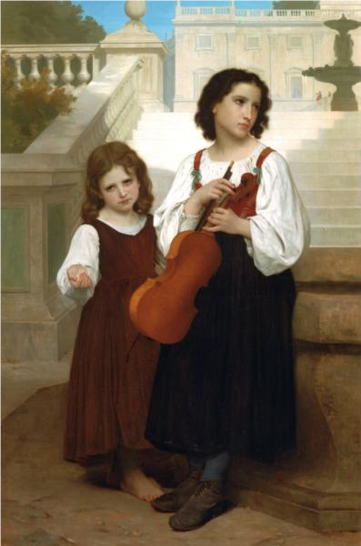 Far from the Country - William Adolphe Bouguereau