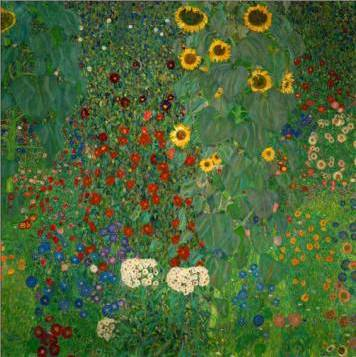 Farm Garden with Sunflowers - Gustav Klimt