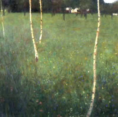 Farmhouse with Birches - Gustav Klimt