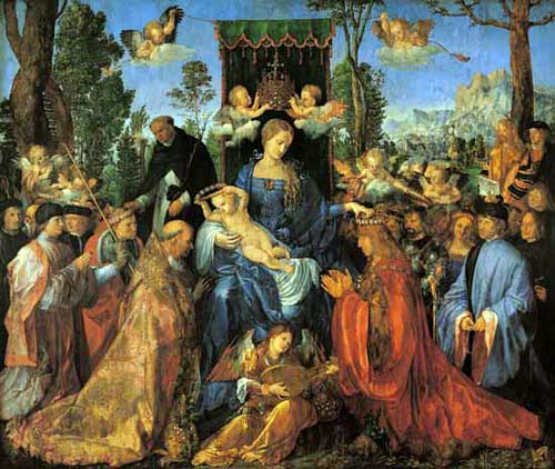 Feast of the Rose Garlands - Albrecht Durer