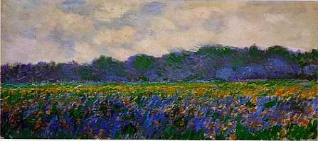 Field of Iris near Giverny - Claude Monet