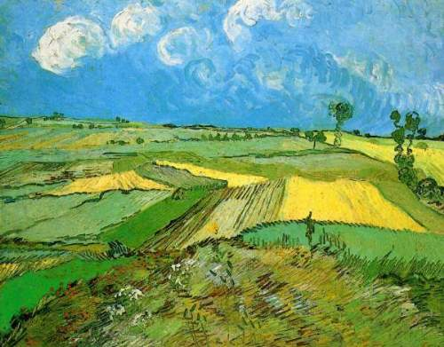 Wheat Fields Near Auvers - Vincent van Gogh