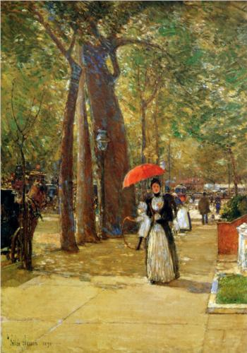 Fifth Avenue at Washington Square - Childe Hassam