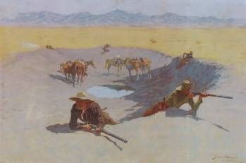 Fight for the Waterhole - Frederic Remington