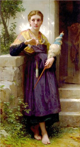 Fileuse - William Adolphe Bouguereau