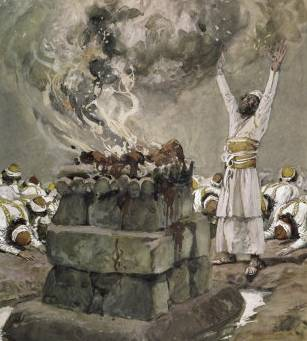 Fire from Heaven Consumes the Sacrifice - James Tissot