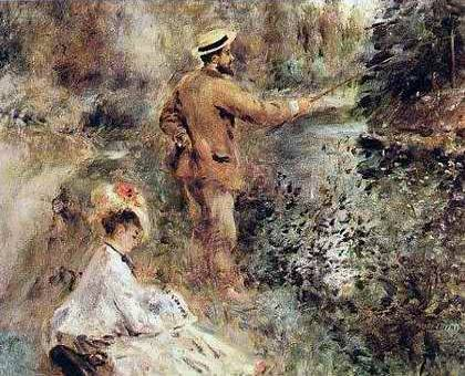 Fisherman with Rod and Line - Pierre Auguste Renoir