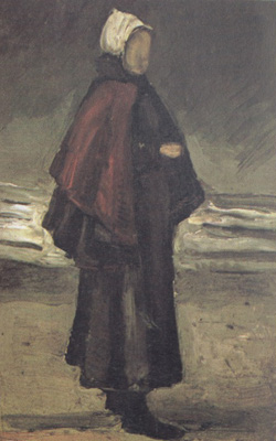 Fisherman's Wife on the Beach - Vincent van Gogh