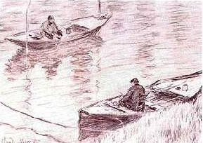 Fishers at Poissy - Claude Monet