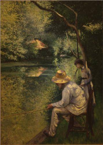 Fishing - Gustave Caillebotte