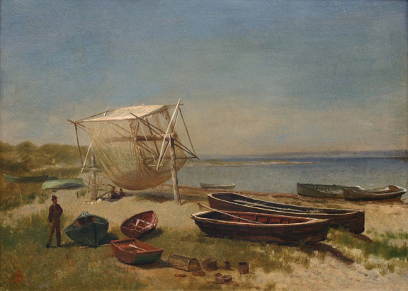 Fishing Station, Watch Hill - Albert Bierstadt