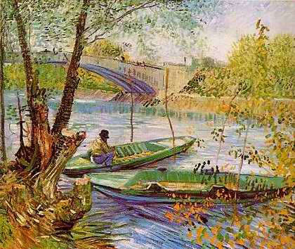Fishing in the Spring Pont de Clichy - Vincent van Gogh