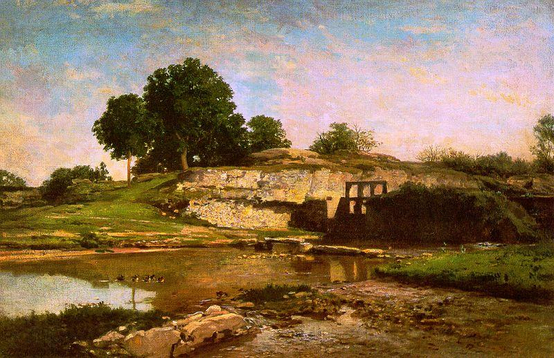 Flood Gate at Optevoz - Charles Daubigny