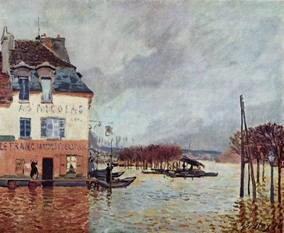 Flood at Port Marly - Alfred Sisley