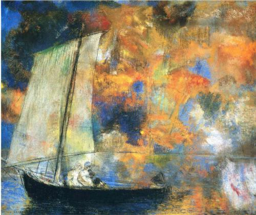 Flower Clouds - Odilon Redon