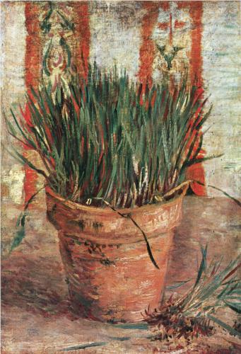 Flowerpot with Chives - Vincent Van Gogh
