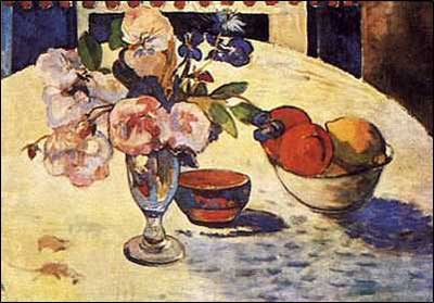 Flowers & Bowl of Fruit - Paul Gauguin