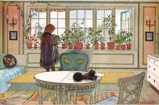 Flowers on the Windowsill - Carl Larsson
