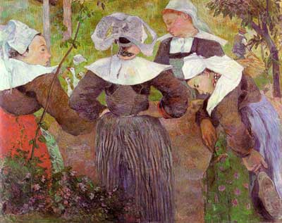 Four Breton Girls - Paul Gauguin